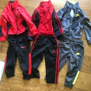 Nike & adidas track suits